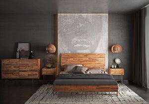 Wicker Rustic Platform Bedroom Collection