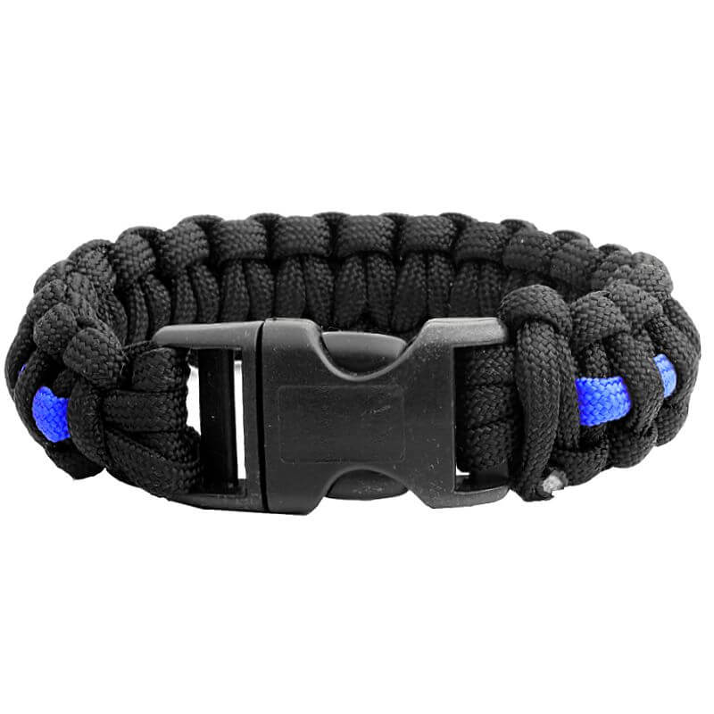 Echo Tactical Thin Blue Line Paracord Survival Bracelet