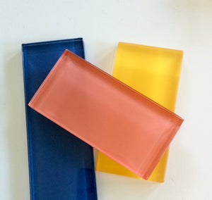 Modwalls Lush Glass Subway Tile | Coral 3x6