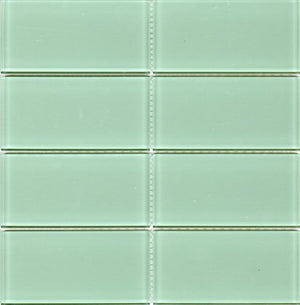 Modwalls Lush Glass Subway Tile | Surf 3x6 | Modern tile for backsplashes, kitchens, bathrooms, showers
