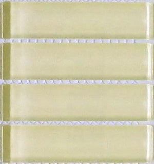 Sample Lush Glass Subway Tile | Almond 1x4