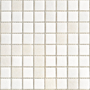 Modwalls Brio Glass Mosaic Tile | White Linen Blend | Modern tile for backsplashes, kitchens, bathrooms, showers, pools, outdoor and floors