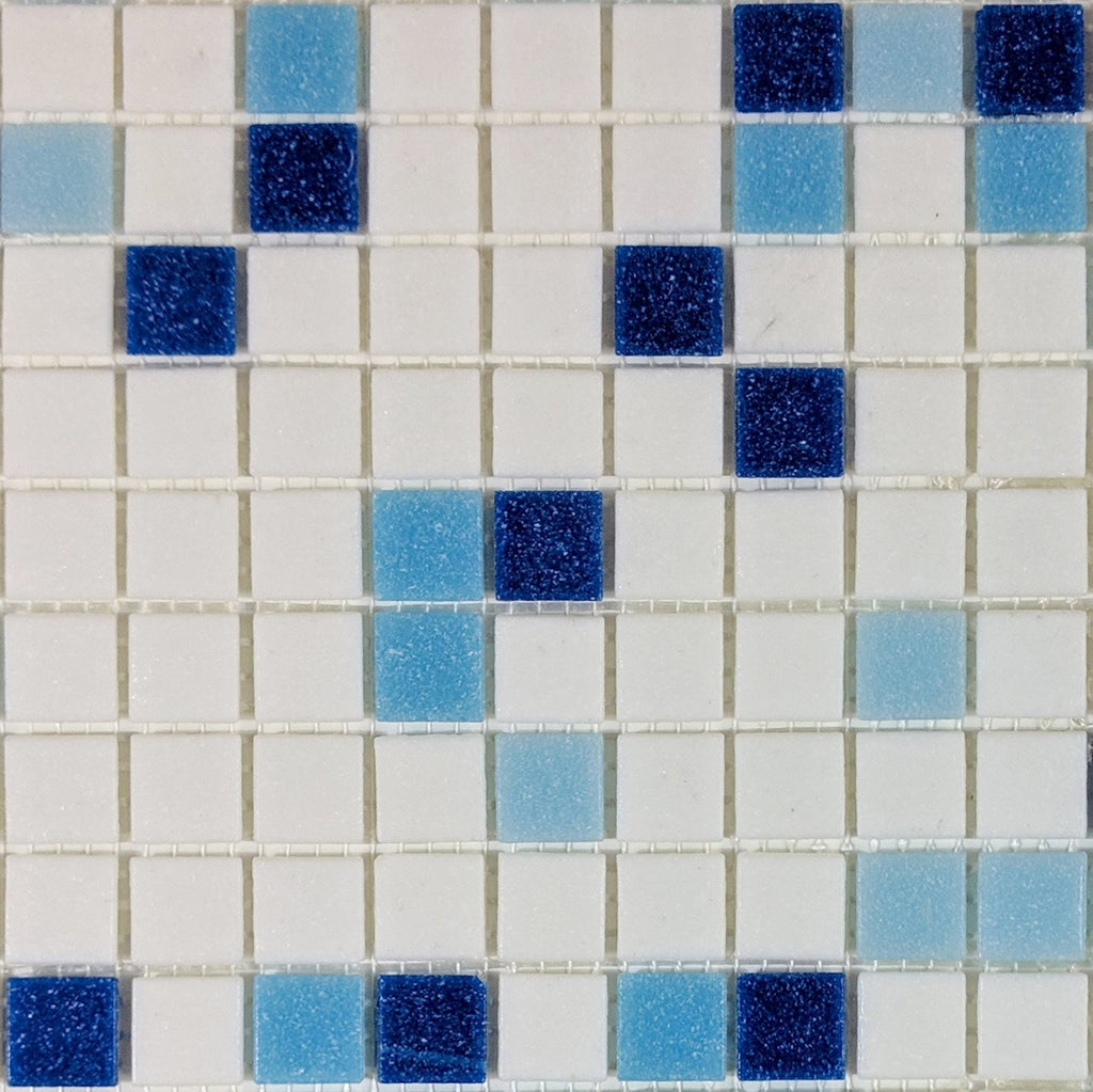 Modwalls Brio Glass Mosaic Tile |  Baja Blend | Modern tile for backsplashes, kitchens, bathrooms, showers, pools, outdoor and floors