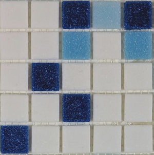 Sample of Brio Glass Mosaic Tile | Baja Blend
