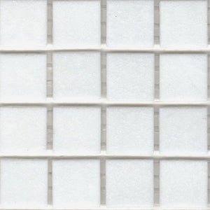 Modwalls Sample of Brio Glass Mosaic Tile | Bright White