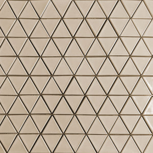 Modwalls Clayhaus Ceramic Mosaic Triangle Tile | 103 Colors | Modern tile for backsplashes, kitchens, bathrooms and showers