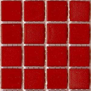Brio Dark Red-Orange Glass Mosaic Tile Paprika | Modwalls Designer Modern Tile
