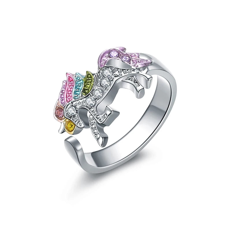 Rainbow Unicorn Ring