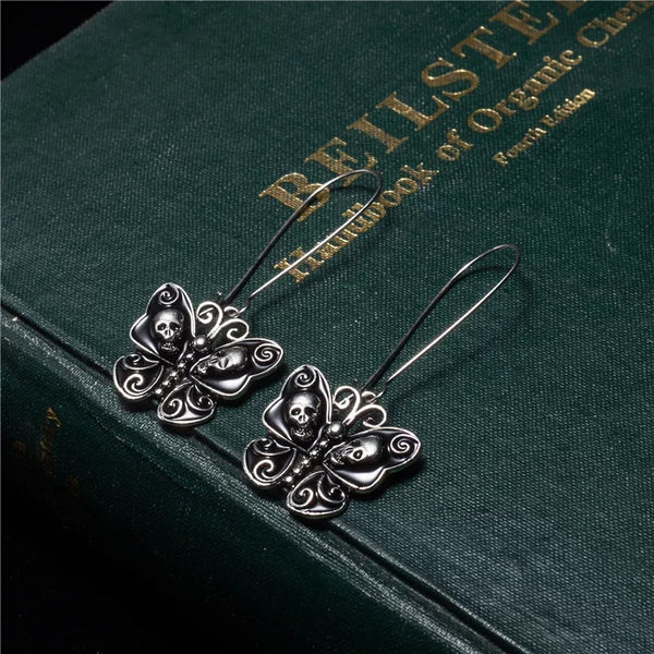 Black Butterfly Earrings