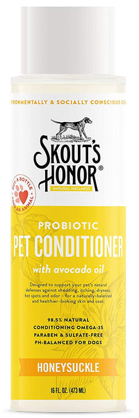 Skout's Honor Probiotic Pet Conditioner Honeysuckle 16 oz