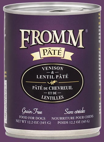 Fromm Grain Free Venison & Lentil Pate Canned Dog Food, 12.2-oz