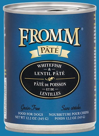 Fromm Grain Free Whitefish & Lentil Pate Canned Dog Food, 12.2-oz