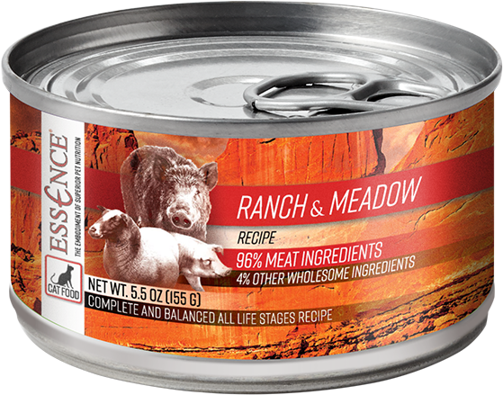 Essence Wet Cat Food Ranch & Meadow Recipe 5.5 oz Can