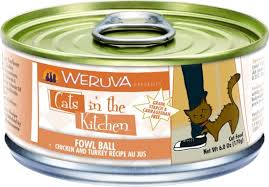 Weruva Cats in the Kitchen Fowl Ball Chicken & Turkey Au Jus Grain-Free Canned Cat Food