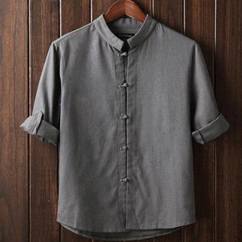 Chinese Flax Long-sleeved Shirt