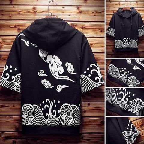 Cool Wind and Water Pattern Hoodie Shirt