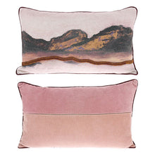 Load image into Gallery viewer, 3d art pillow in pastel colors with corduroy back