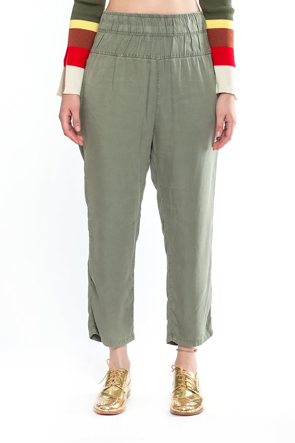 High Waisted Pants Olive