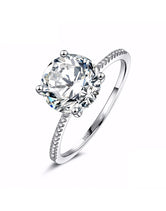 3 Ct Silver Engagement Ring