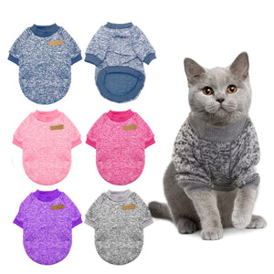 Warm Cat Sweater Clothing Autumn Winter Pet Dog Clothes
