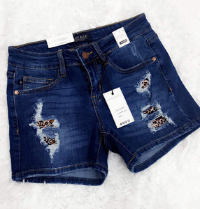 Judy Blue Leopard Patch Shorts