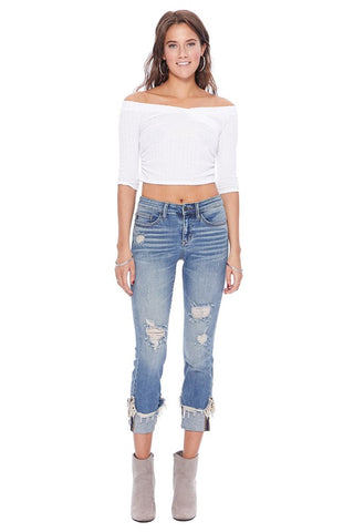 Judy Blue Cropped Jeans PLUS Sizes