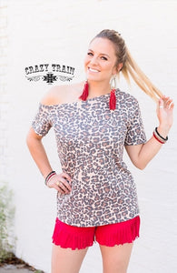 Crazy Train Wyoming Wild Tilt Leopard Top