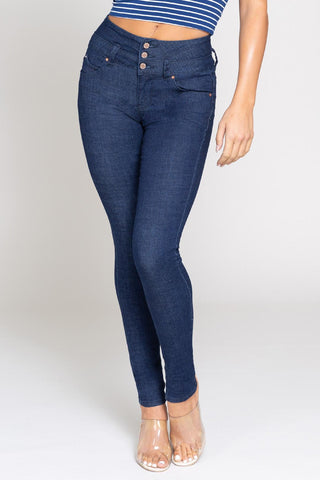 YMI Dark Blue Stretch Jeans
