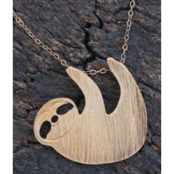 Sloth Gold Necklace