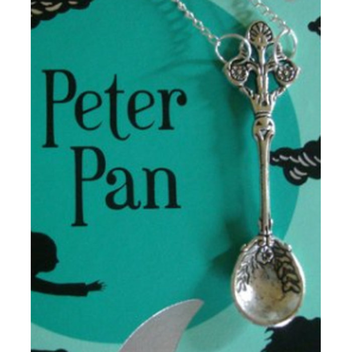 Peter Pan Spoon Pendant Necklace