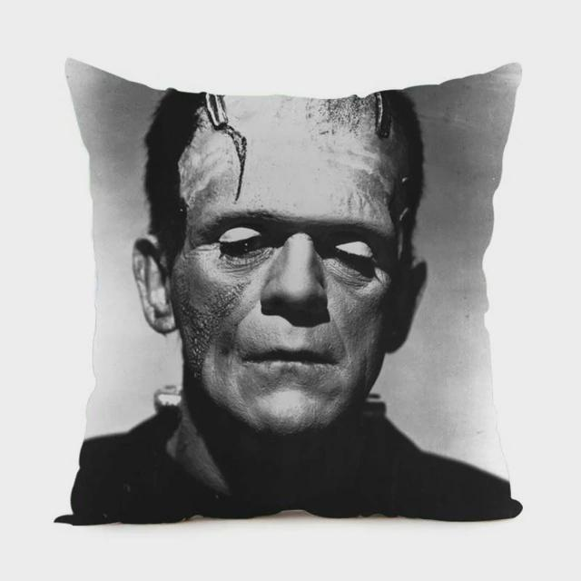 Cushion - Frankenstein's Monster B&W