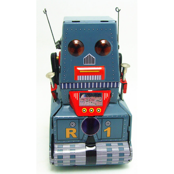 Tin Tank Robot Grey