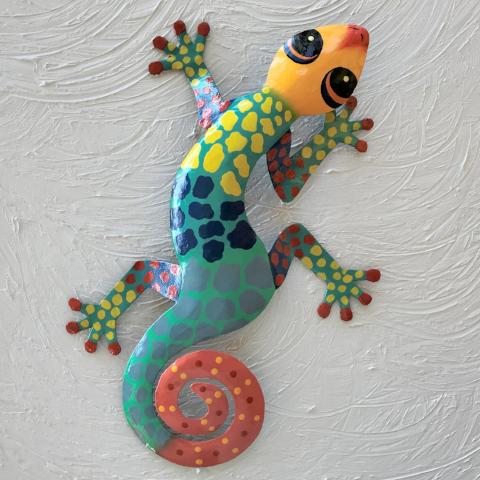 Ceci Metal Gecko Wall Decor by Caribbean Rays