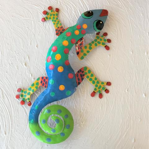 Isabela Metal Gecko Wall Decor by Caribbean Rays