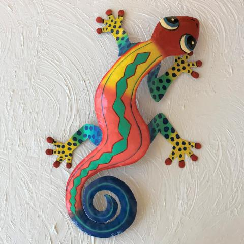 Lo Lee Metal Gecko Wall Decor by Caribbean Rays
