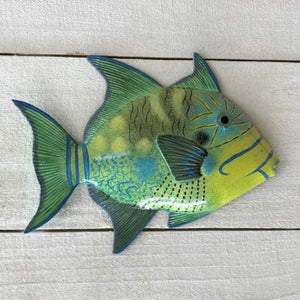 Queen Trigger Resin Tropical Fish Wall Decor by Caribbean Rays