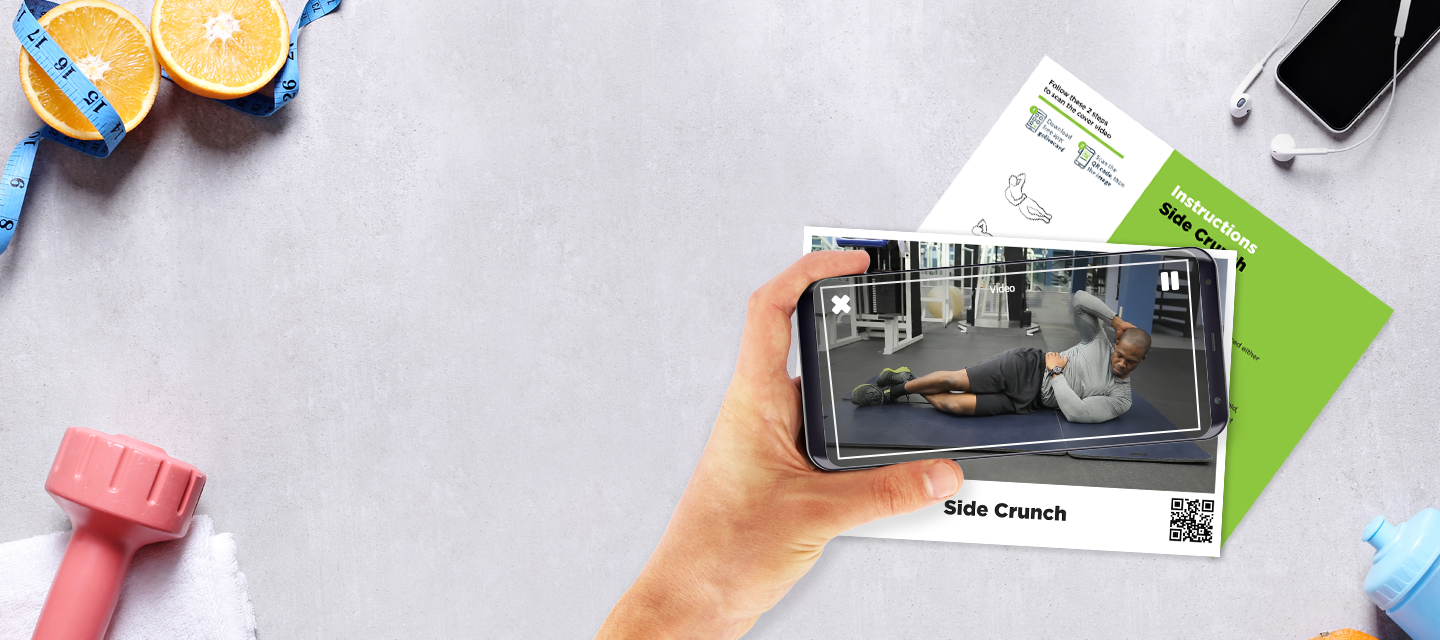 golivecard AR video exercise instructions card