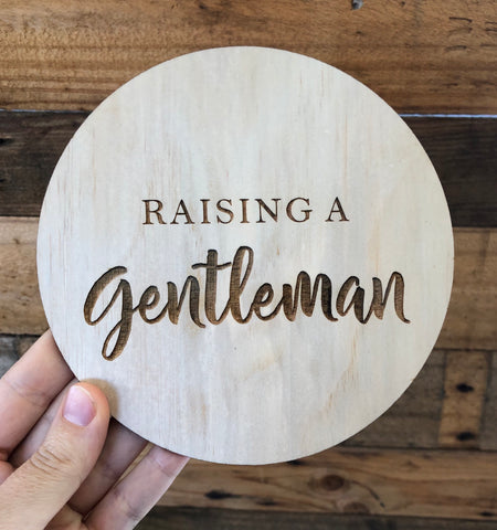 Raising a Gentleman plaque