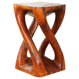 Haussmann Vine Twist Stool 14 In X 14 In X 23 In H Wood Table Cherry Intense Oil