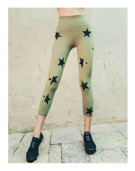 Olive Women Big Star Leggings Fitness Pants - olive / L