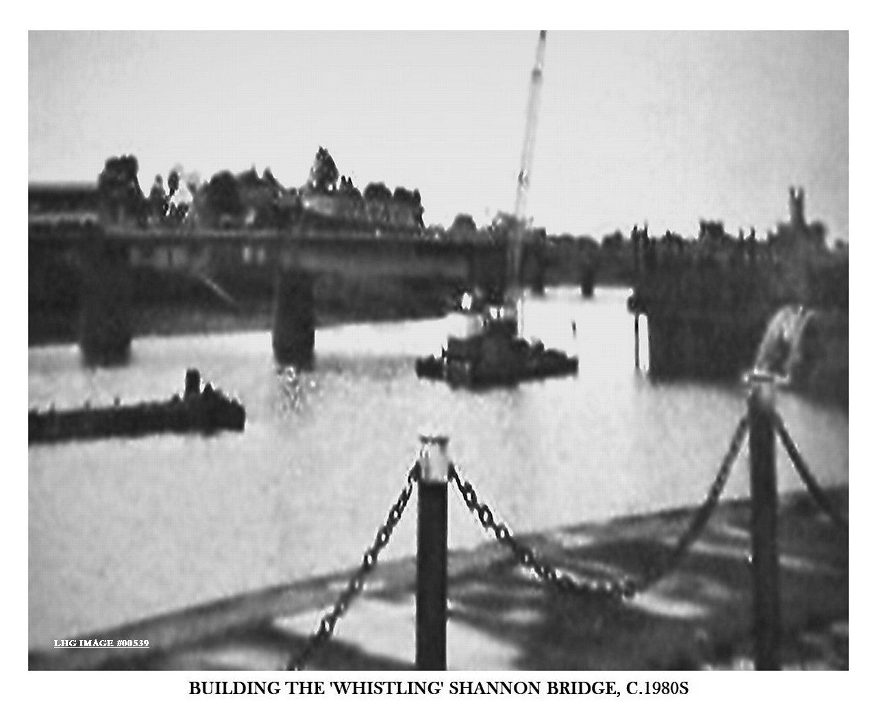 BUILDING THE 'WHISTLING' SHANNON BRIDGE, C.1980S