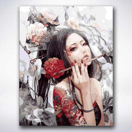 Chinese Dragon Woman - Paint by number