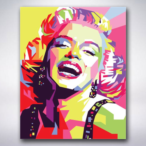 Colourful Marilyn Monroe - Paint by numbers
