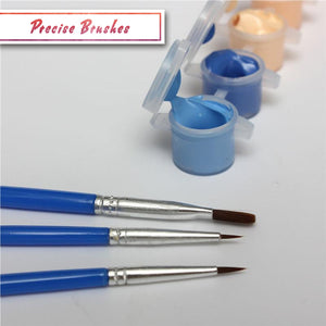 Paint by numbers precise brushes