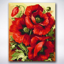 Load image into Gallery viewer, Red Blooms - Paint by number