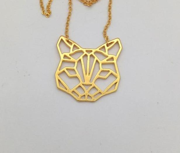 Origami Cat Necklace. 3 colors. - Trinket Fascinations Jewelry