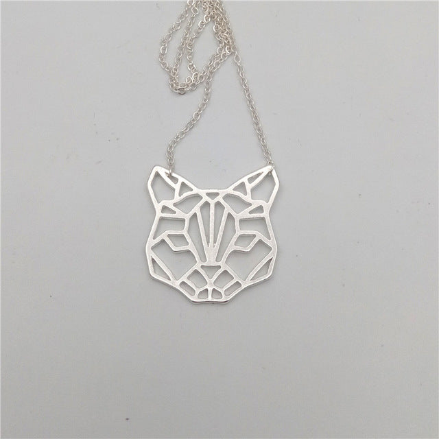 Origami Cat Necklace. 3 colors.