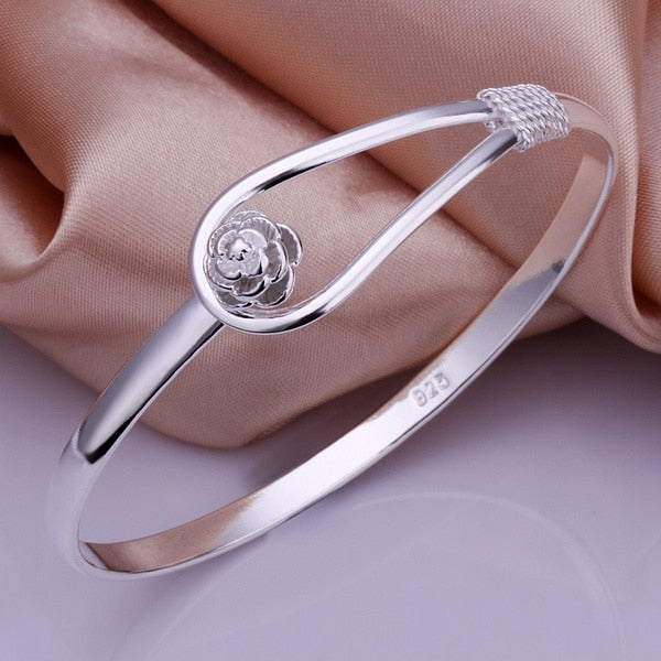 Buckle Flower Bangle - Trinket Fascinations Jewelry