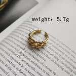 925 Sterling Silver Gold Plated Twist Chain Ring - Trinket Fascinations Jewelry
