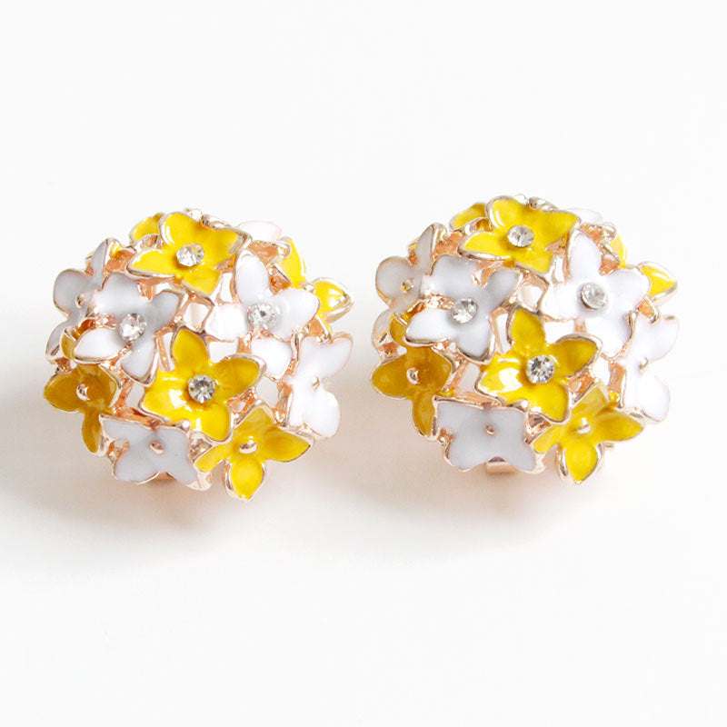 Sweet Bohemian Crystal Flower Earrings